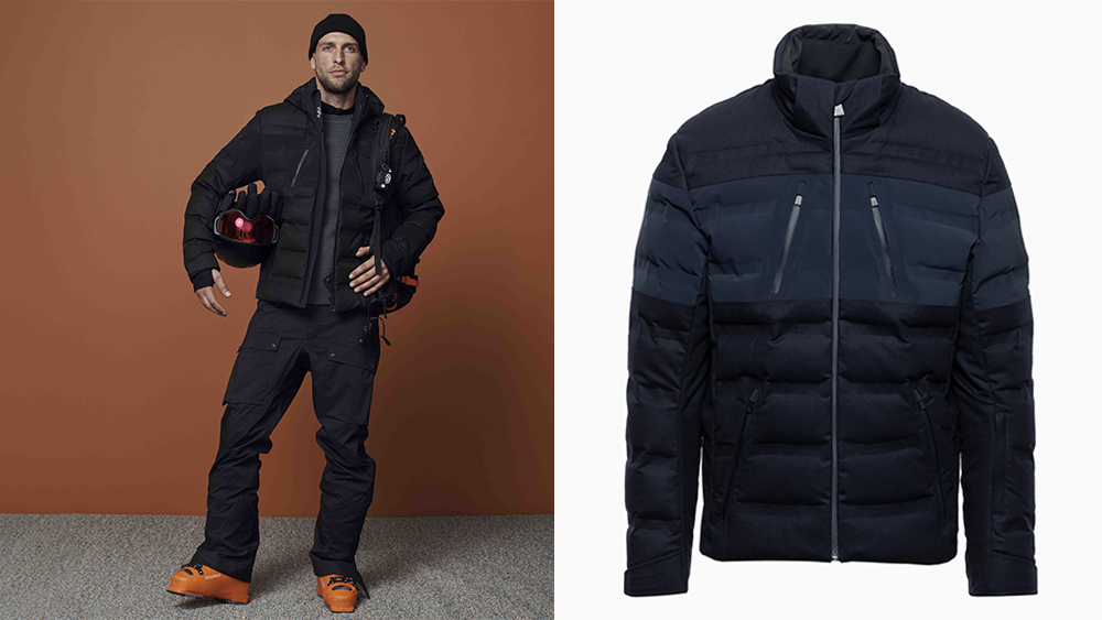 A look from Aztech Mountain's fall collection. Right, waterproof wool and nylon 'Nuke' jacket ($1,850).