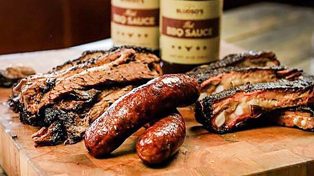 bludso's bbq holy trinity sausage brisket ribs