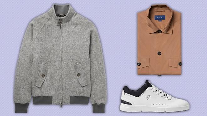 Baracuta jacket, Eton overshirt, On Running sneakers