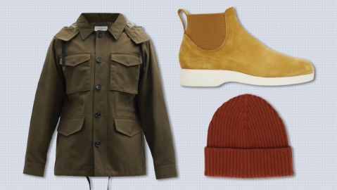 Officine Générale jacket, R.M. Williams boots, CQP beanie
