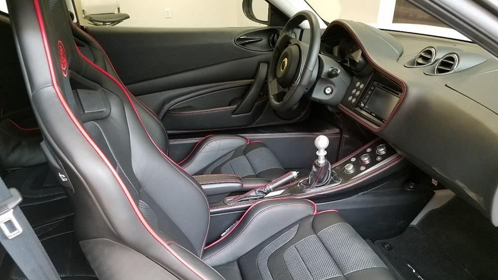 Inside the 2014 Evora S coupe