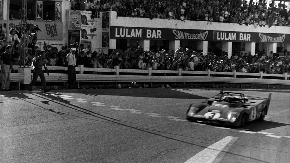 The Ferrari 512M competes at the 24 Hours of Le Mans in 1971