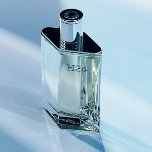 Hermès' H24 fragrance bottle