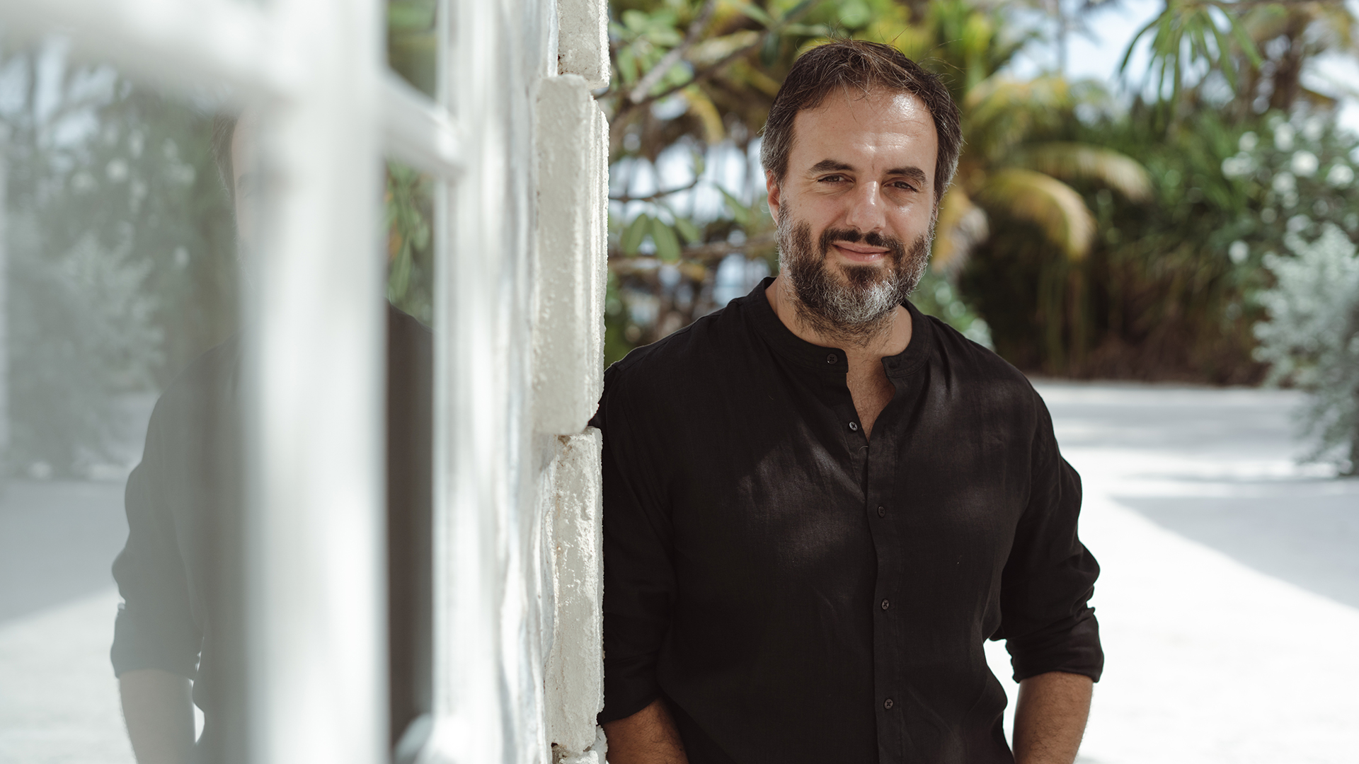Farfetch CEO Jose Neves, photographed at his home, enjoying his moment in the sun.