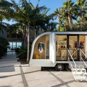 Louis Vuitton's LV By Appointment trailer in Malibu, California