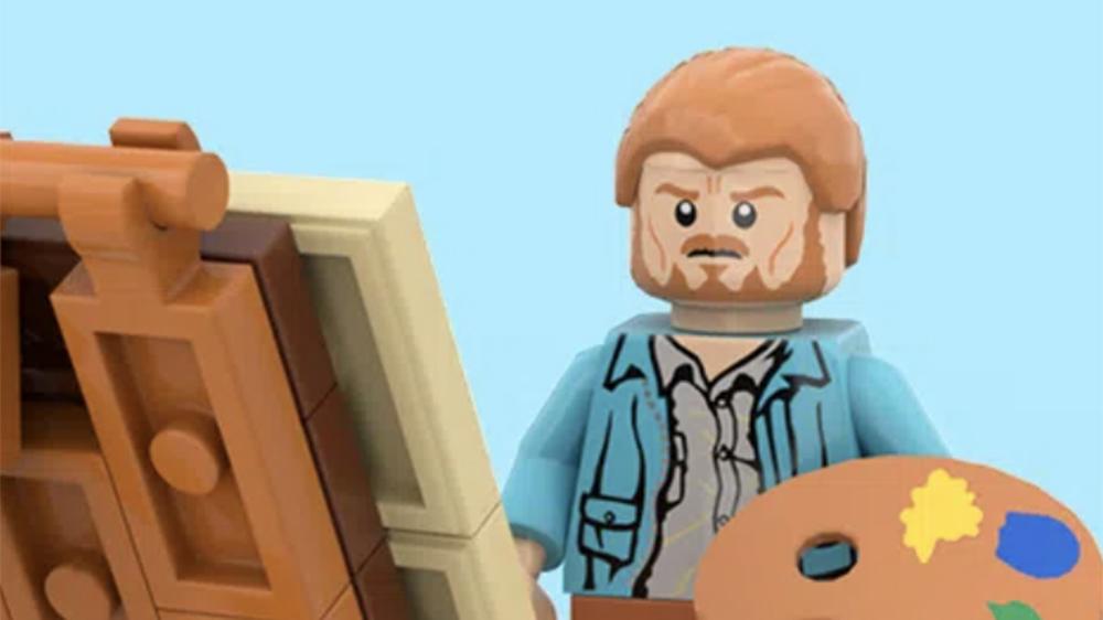 A Lego minifigure of Vincent van Gogh