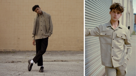 Two looks from William Frderick's fall-winter collection.