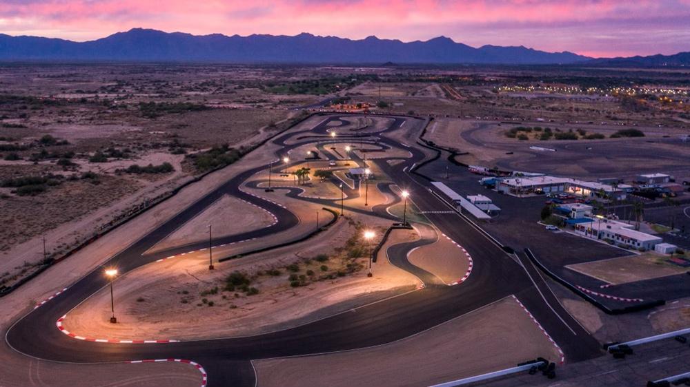 The track at Radford Racing School in Chandler, Ariz.
