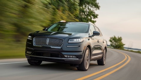 The 2021 Lincoln Nautilus Black Label midsize SUV.
