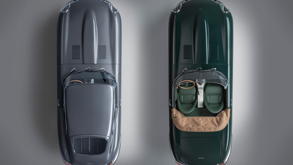 An aerial view of the Jaguar E-type 60 Collection.
