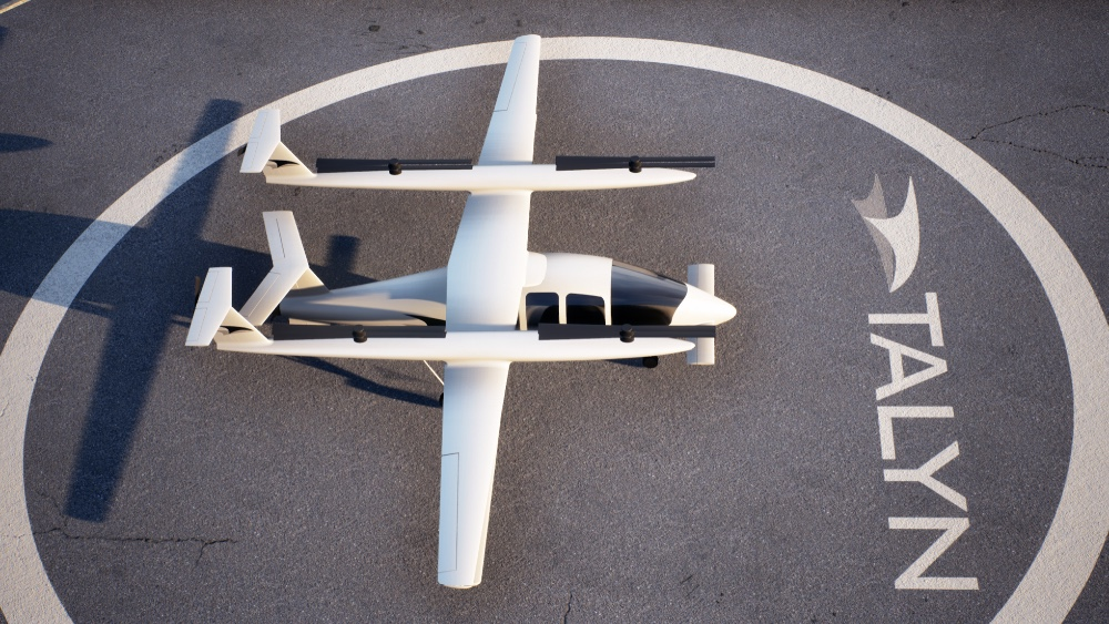 Talyn two-stage aircraft and drone will extend the aircraft's range three times more than other eVTOL aircraft