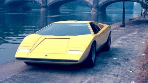 A Lamborghini Countach LP500.