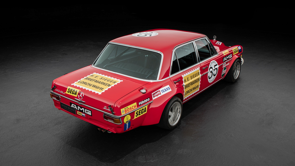 "The Mercedes ""Red Pig"" race car replicated by Arthur Bechtel Classic Motors."