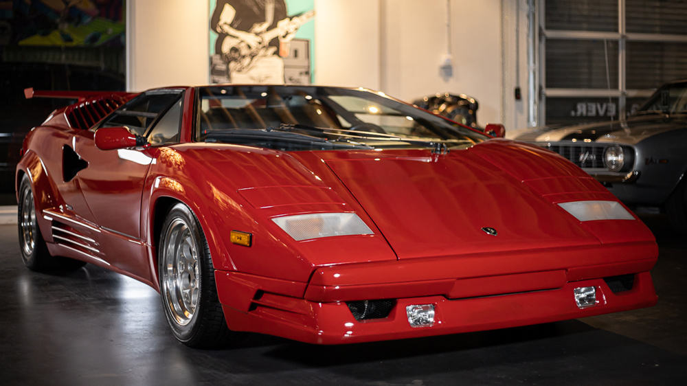 The 1989 Lamborghini Countach 25th Anniversary Edition being offered by Walt Grace Vintage.