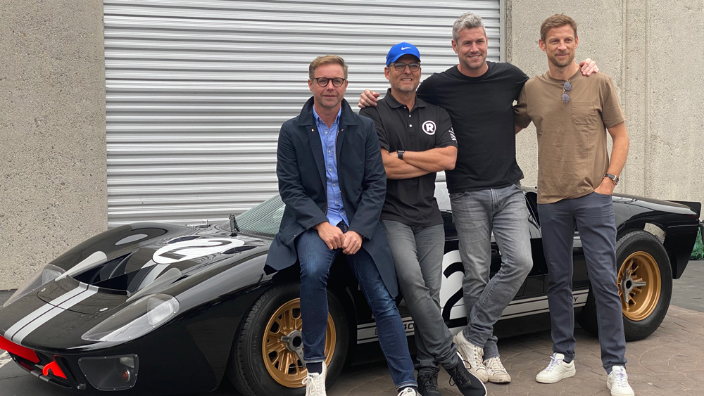 The crew behind Radford Racing School, from left: Mark Stubbs, Roger Behle, Ant Anstead and Jenson Button.