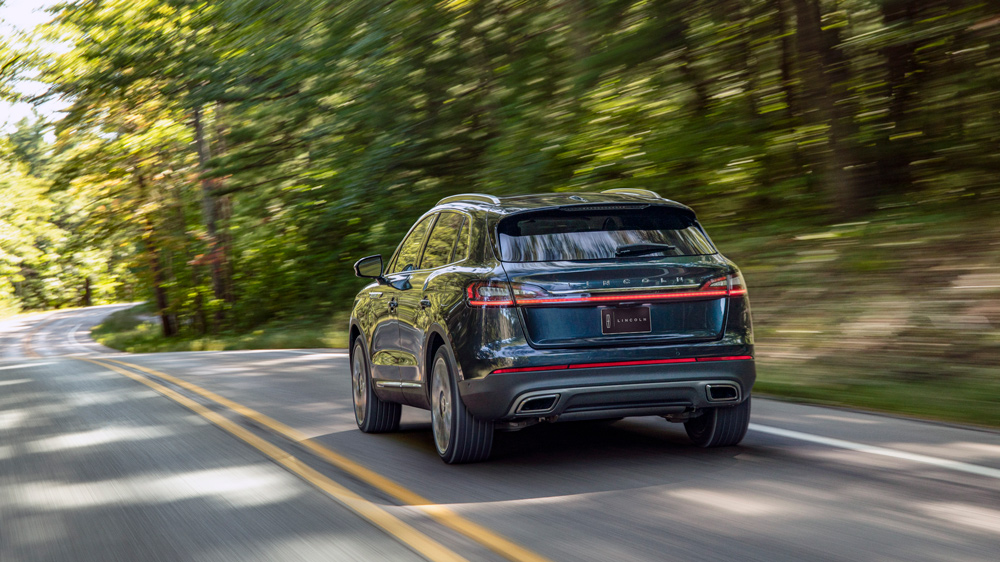 The 2021 Lincoln Nautilus Black Label midsize SUV.