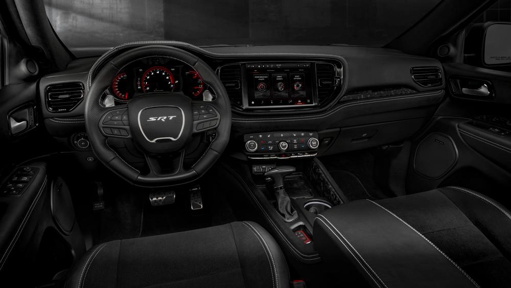 The interior of the 2021 Dodge Durango SRT Hellcat.