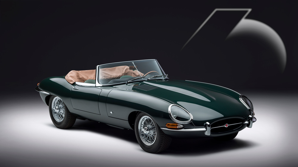 The Jaguar E-type 60 collection's roadster.