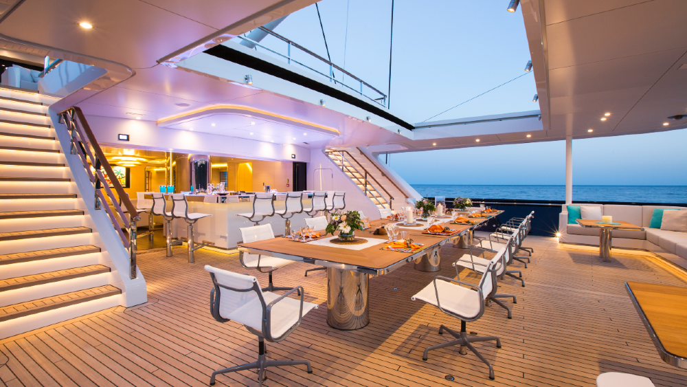Aquijo is the largest ketch in the world with excellent accommodations and a spacious interior.