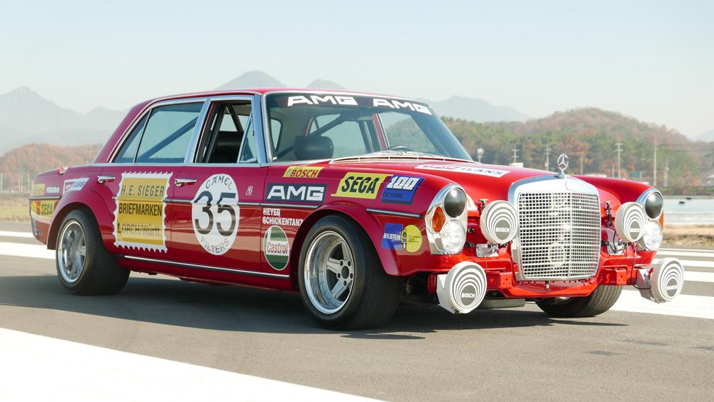 "A replica of the Mercedes ""Red Pig"" race car by Arthur Bechtel Classic Motors."