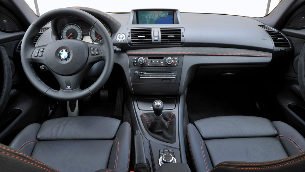 The interior of a 2011 BMW 1 Series M Coupe.
