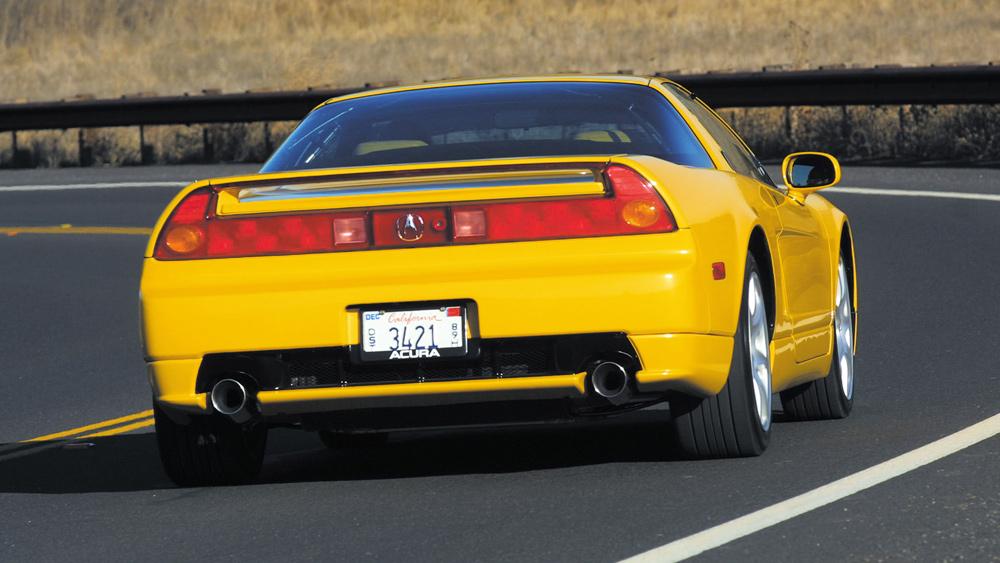 A 2005 Acura NSX sports car.