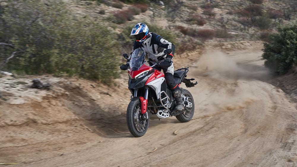 The 2021 Ducati Multistrada V4 S motorcycle.