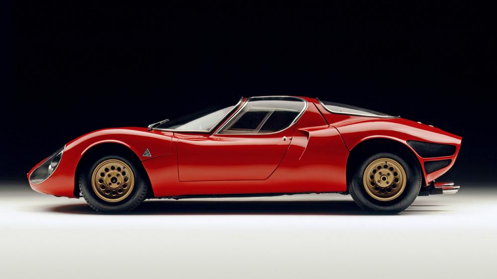 A 1967 Alfa Romeo Tipo 33 Stradale.