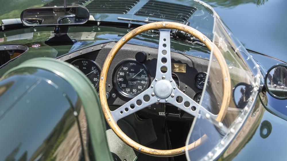 A 1954 Jaguar D-type race car.