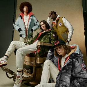 Models in the Canada Goose & NBA collection with Rhude.