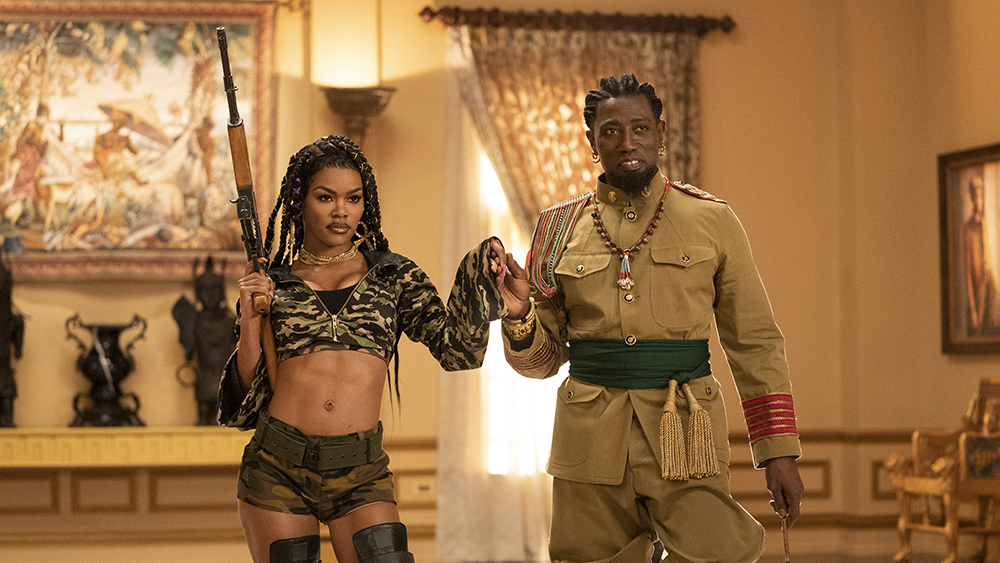 Teyana Taylor and Wesley Snipes star in COMING 2 AMERICAPhoto Courtesy of Amazon Studios