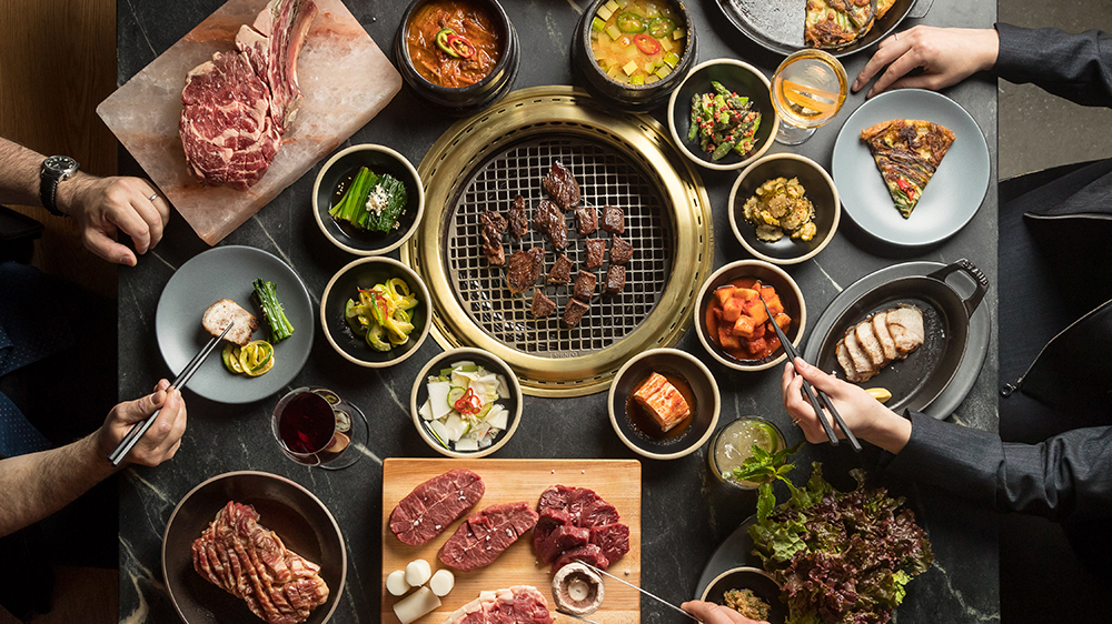 The Butcher's Feast at Cote, the restaurant's signature meal