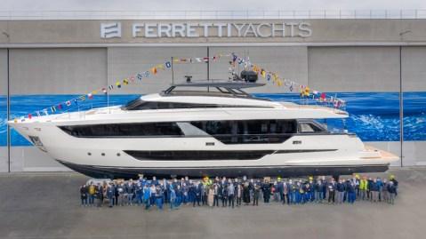 Ferretti Yachts launched its new flagship Ferretti 1000
