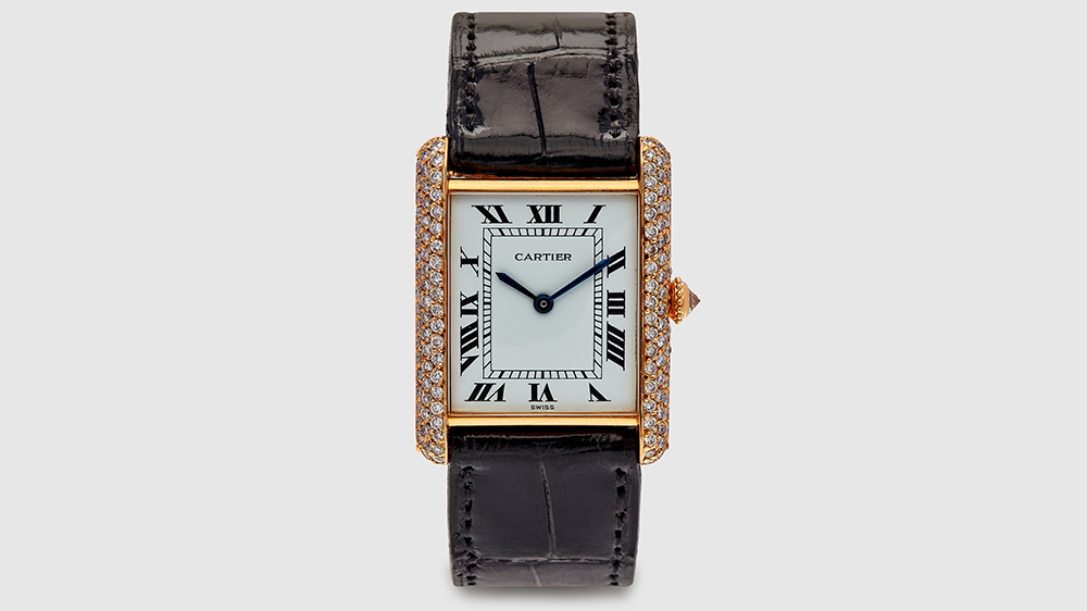 Harry Fane Cartier Diamond Tank Wristwatch