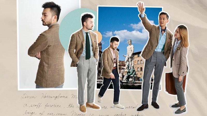 The Armoury's herringbone linen sport jacket