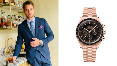 Justin Hartley; Omega Moonwatch in Sedna Gold