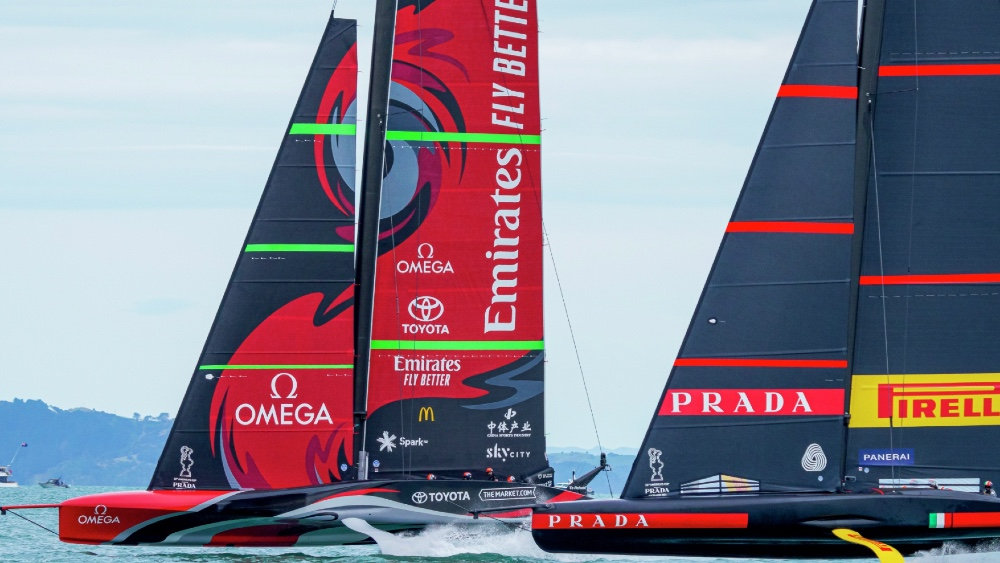 The America's Cup Racing Got Going Today with Each Team Winning One Race