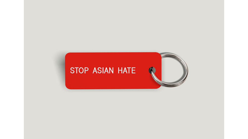 #NYTougherThanEver Stop Asian Hate Keytag