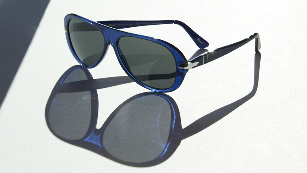 Persol 3260S sunglasses in the new, limited edition blue colorway.