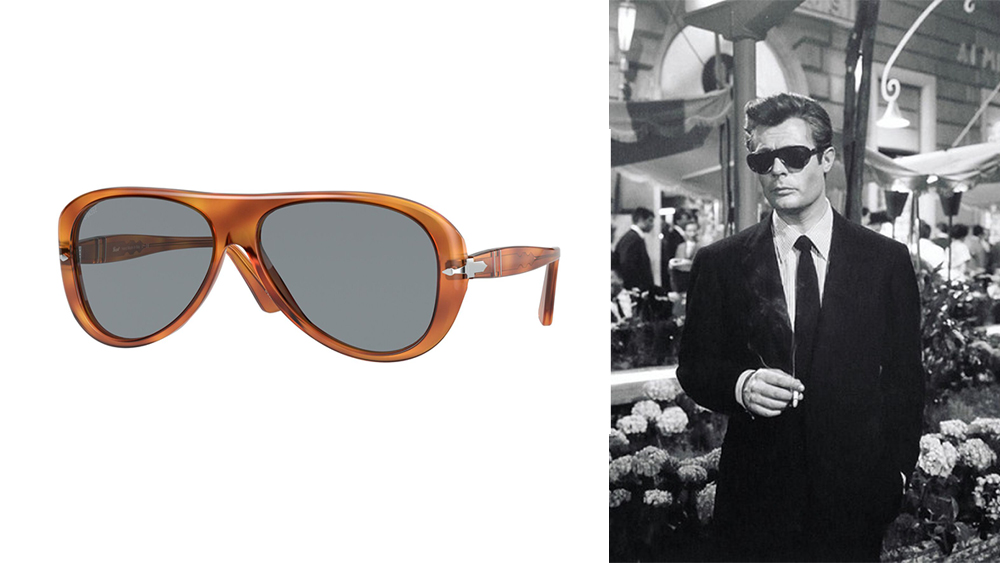 "The 3260S in ""Terra di Siena"" and as worn by Marcello Mastroianni in ""La Dolce Vita""."
