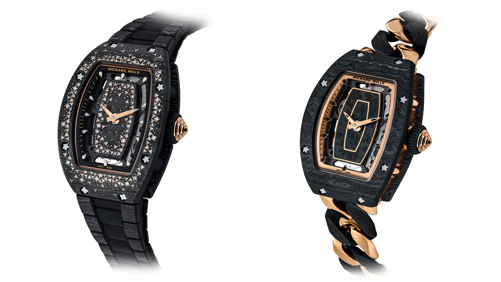 Richard Mille's Latest Ladies' Watches Combine Carbon TPT With Gold and Diamonds
