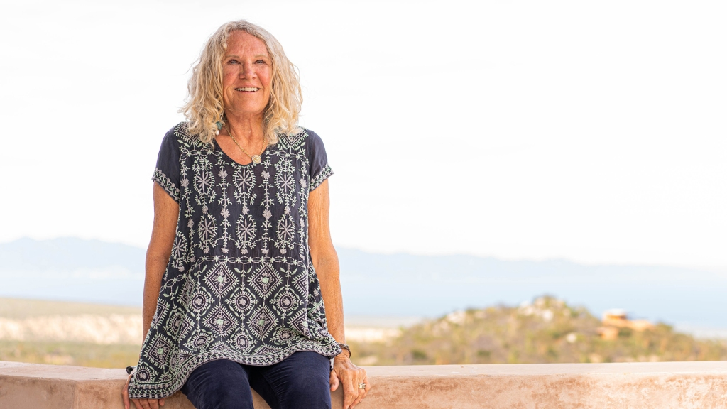 Founder Christy Walton at her home overlooking the Sea of Cortez