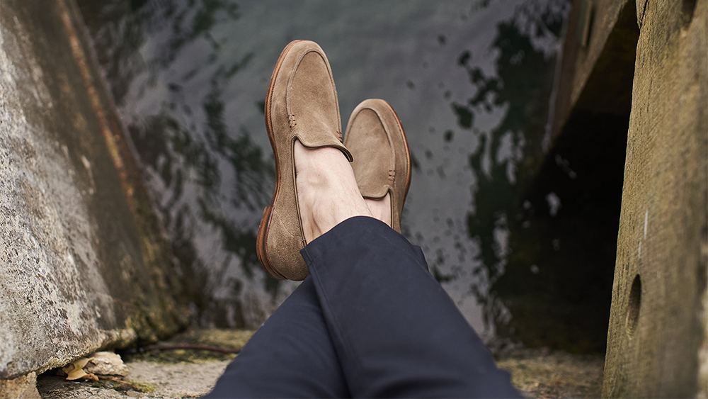 The unstructured 'Salcombe' loafer is one of the many styles available on the new site.