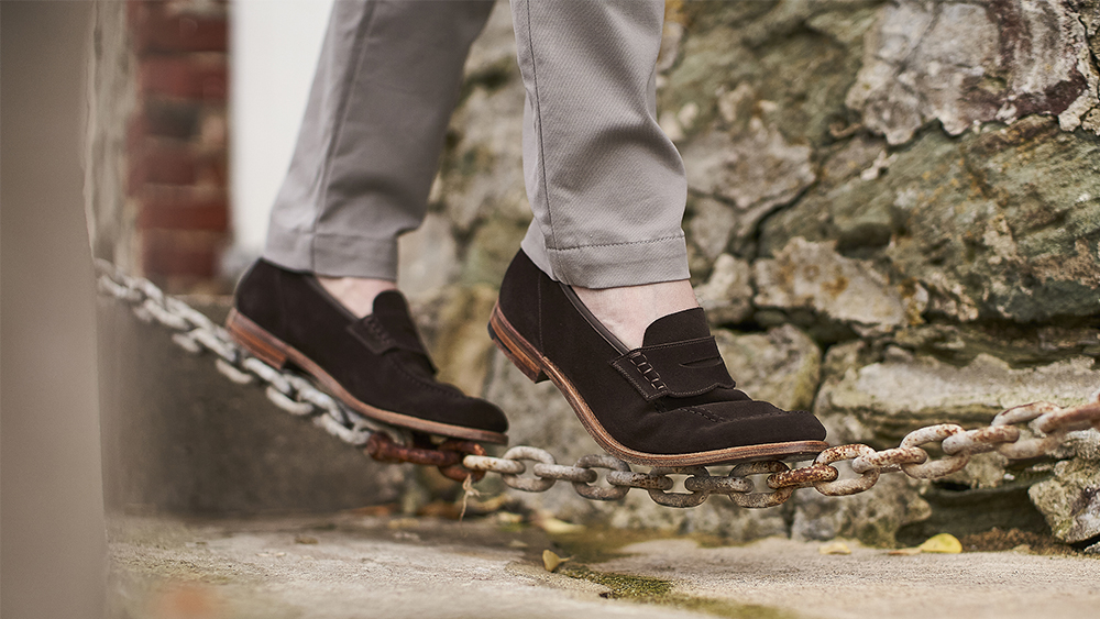Footloose: the ultra comfortable new Superflex sole as seen in the 'Seaton' loafers (