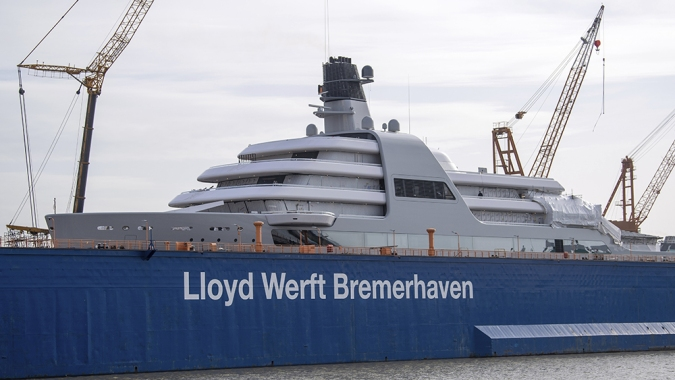 Watch: One of the Largest Superyachts of 2021 Hit the Water for the First Time
