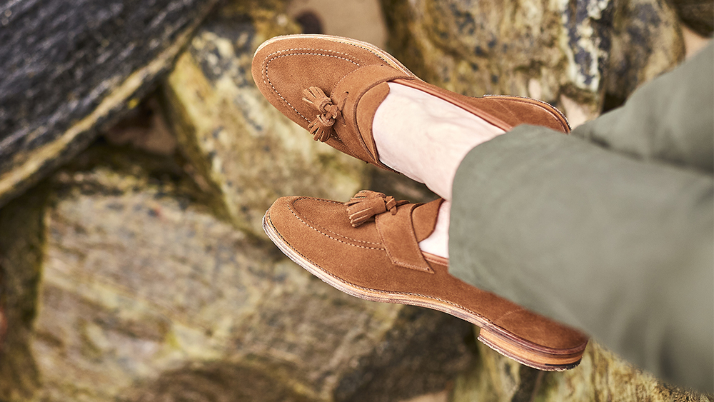 Crockett & Jones revisits a classic with the new, unstructured 'Solent' tassel loafer.