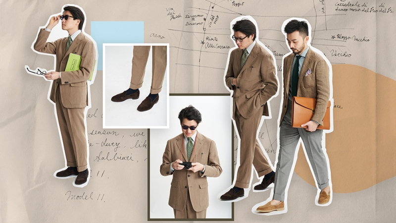 Neutral suiting from The Armoury