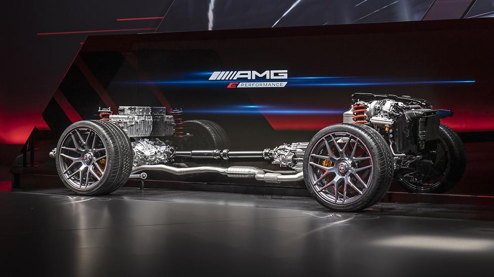 The AMG E Performance hybrid powertrain