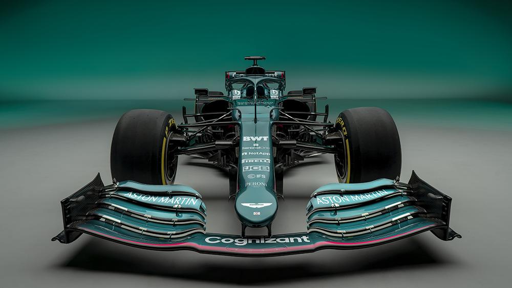 Aston Martin Cognizant Formula 1 Team AMR21 race car