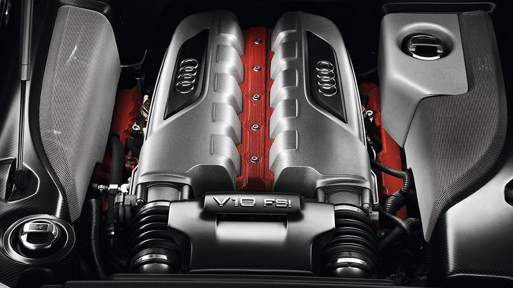 The 5.2-liter V10 in the Audi R8